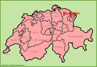 St. Gallen Location Map