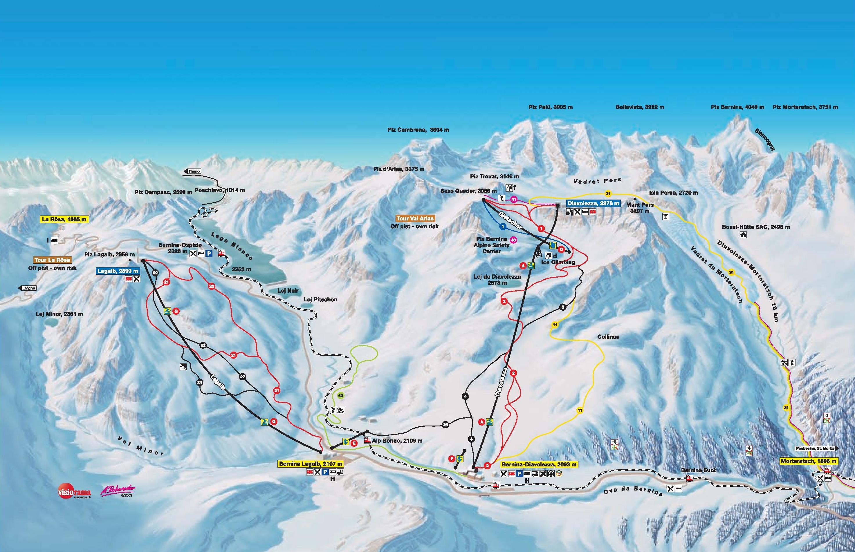 St Moritz Diavolezza piste map