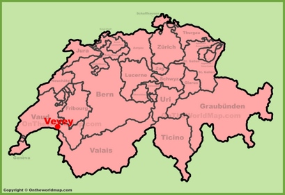Vevey Location Map