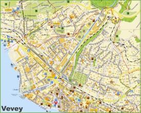 Vevey tourist map