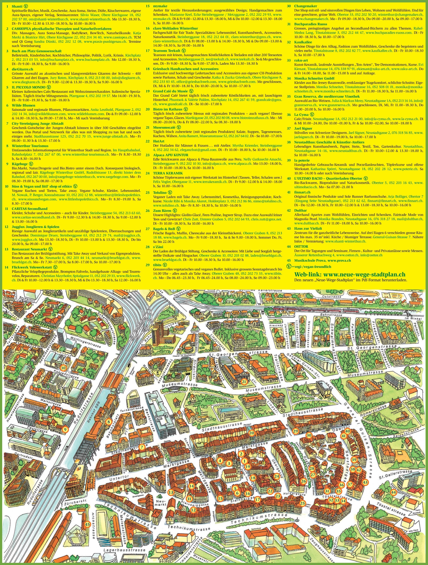 Winterthur city center map
