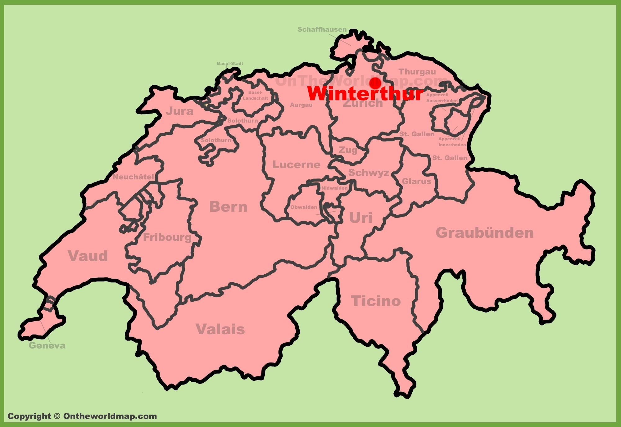 Winterthur Maps Switzerland Maps of Winterthur