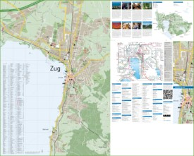 Large detailed tourist map of Zug