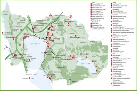Zug hotel map