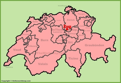 Zug Location Map