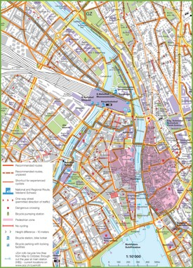 Zürich bike map
