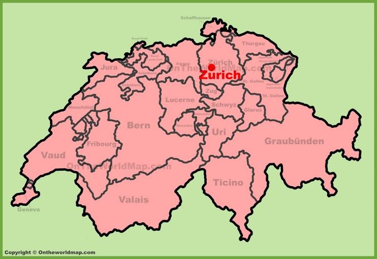 Zurich Switzerland Map Zürich City Maps | Switzerland | Maps of Zürich (Zurich)