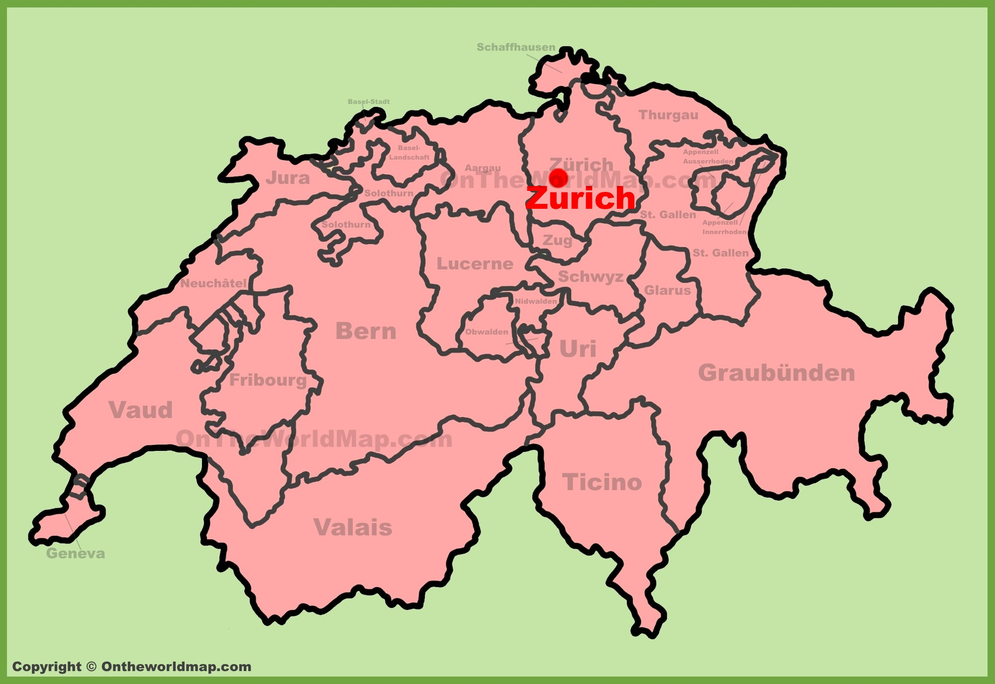 Zrich location on the switzerland map zrich location on the switzerland map gumiabroncs Images