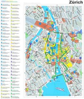 Zürich City Maps | Switzerland | Maps of Zürich (Zurich) on zurich transport map, zurich tour map, zurich airport map, zurich transportation map, zurich tourist attractions, zurich switzerland map, zurich metro map, zurich hotel map,