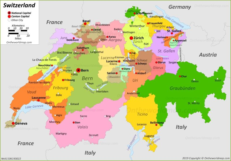 Map Of France Switzerland.Switzerland Maps Maps Of Switzerland