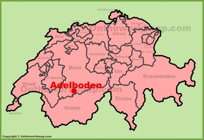 Adelboden Maps Switzerland Maps of Adelboden