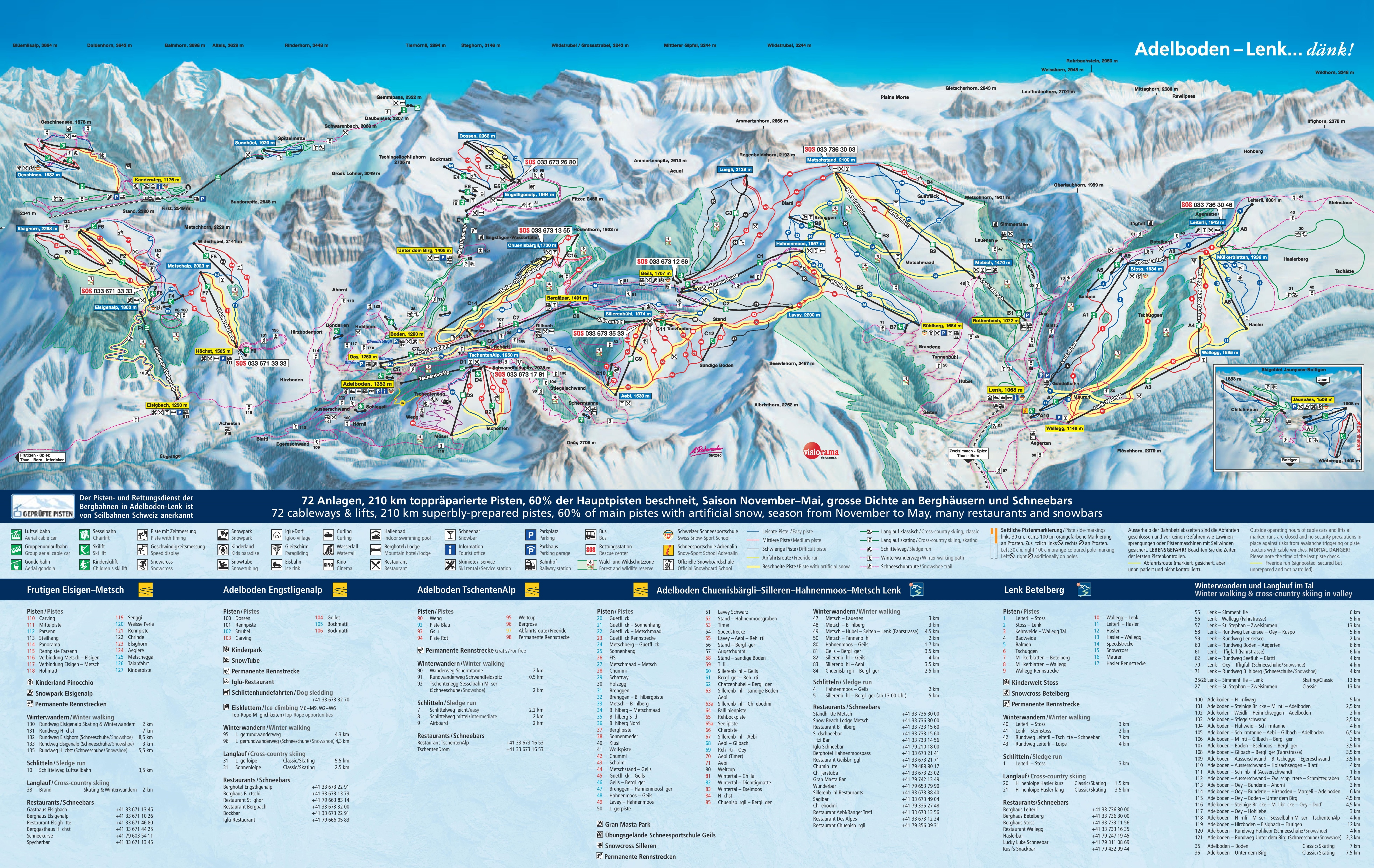 Adelboden ski map