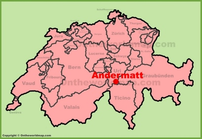 Andermatt Location Map