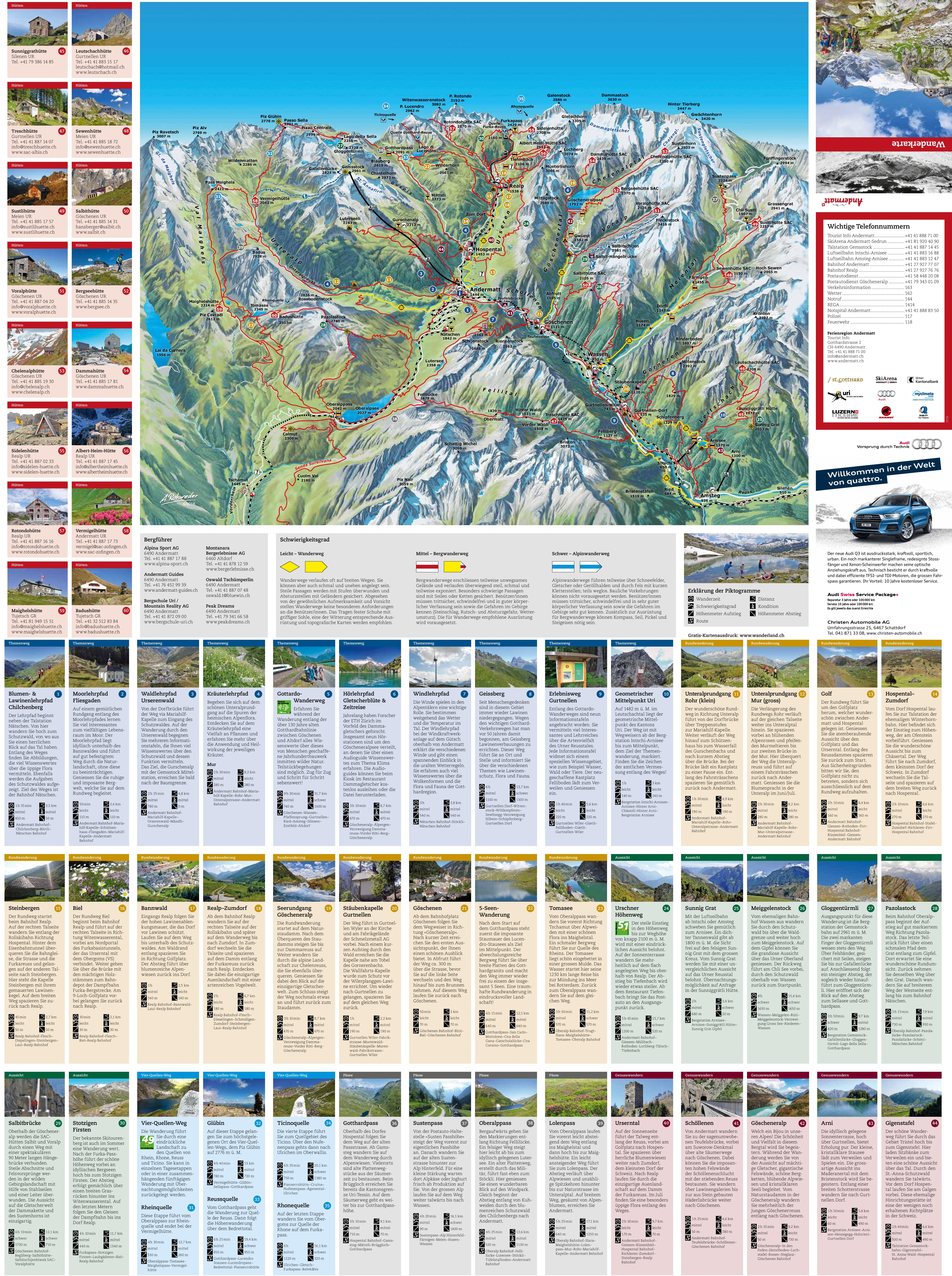 Andermatt trail map