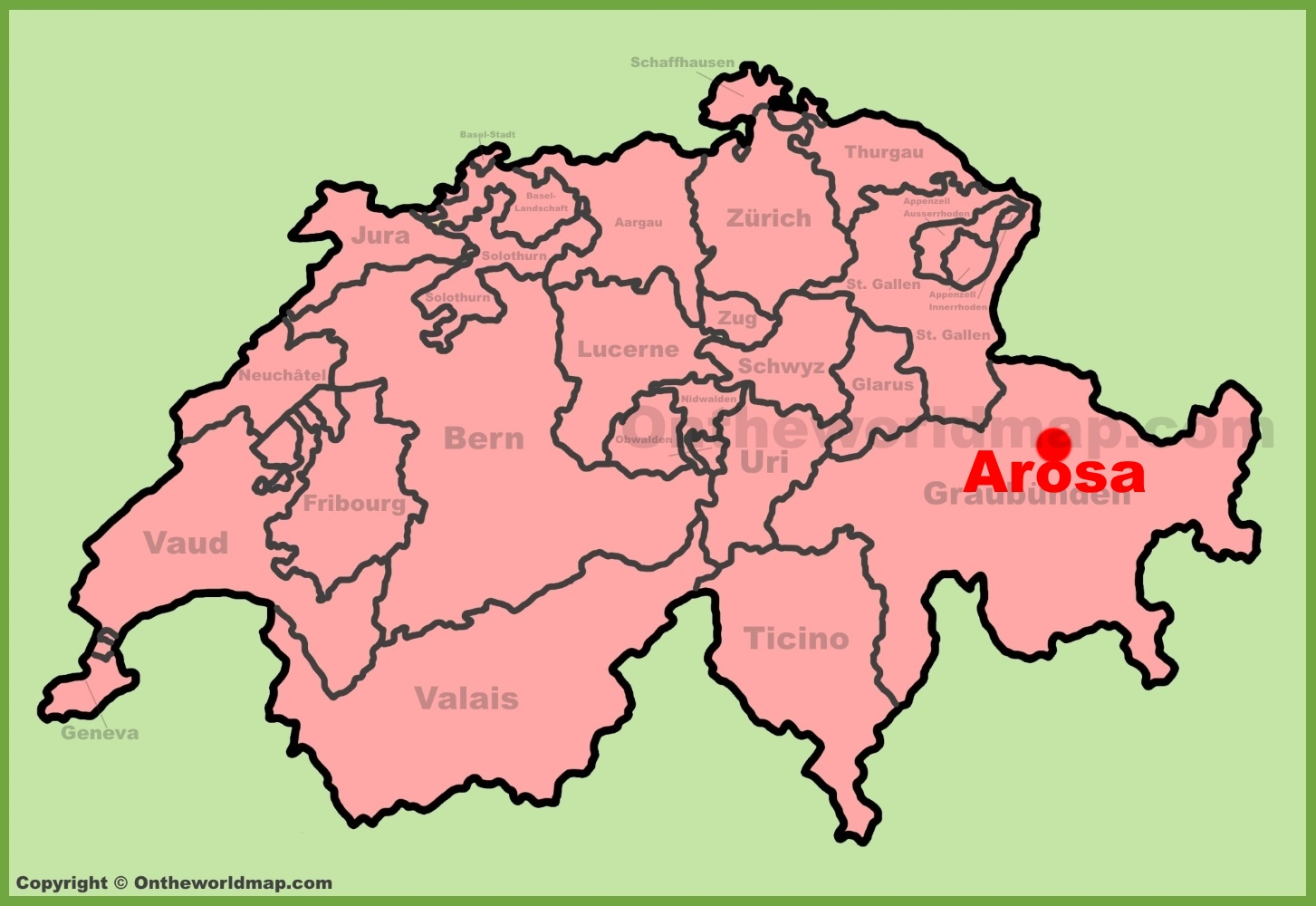 Arosa Maps Switzerland Maps of Arosa