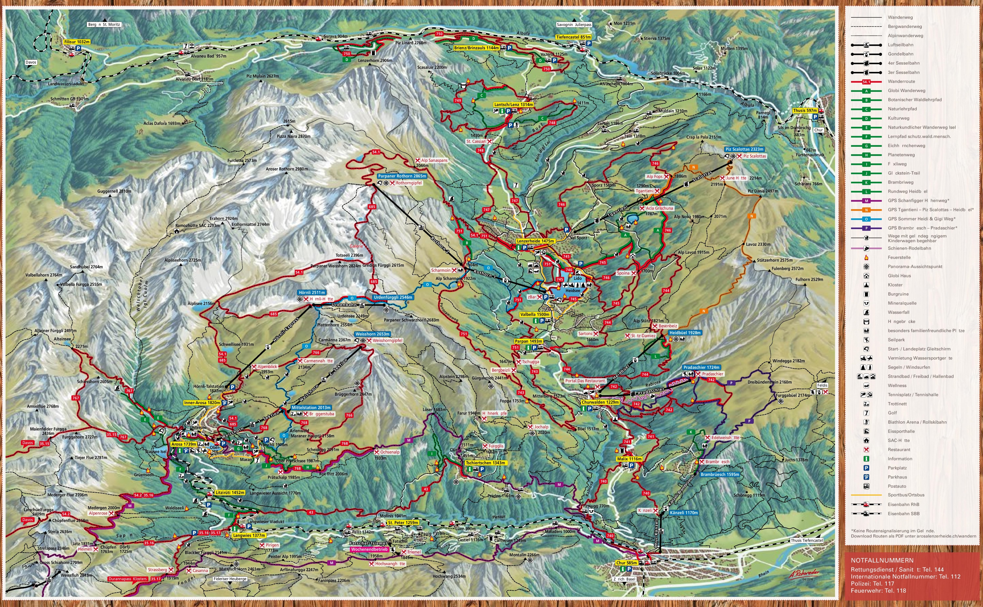 Arosa summer map