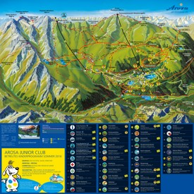 Arosa trail map