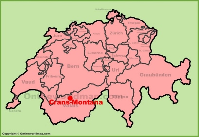 Crans-Montana Location Map