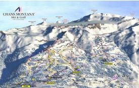 Crans-Montana piste map