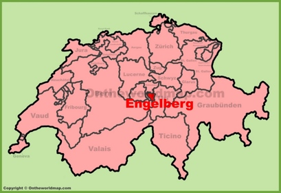 Engelberg Location Map