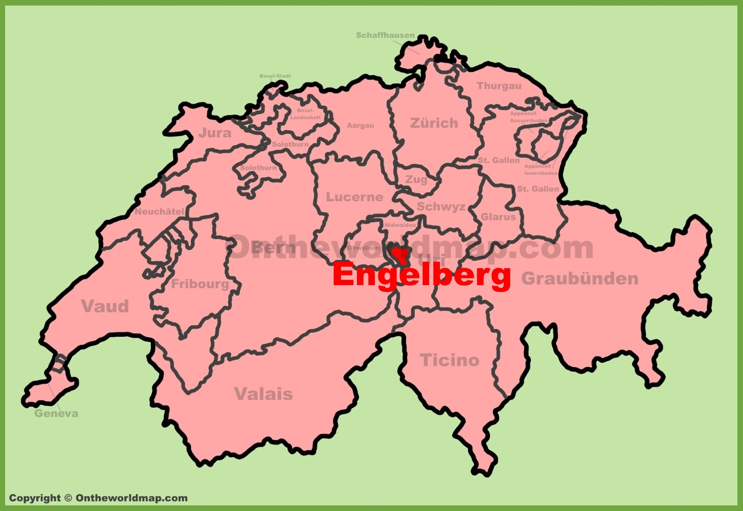 Engelberg location on the Switzerland map