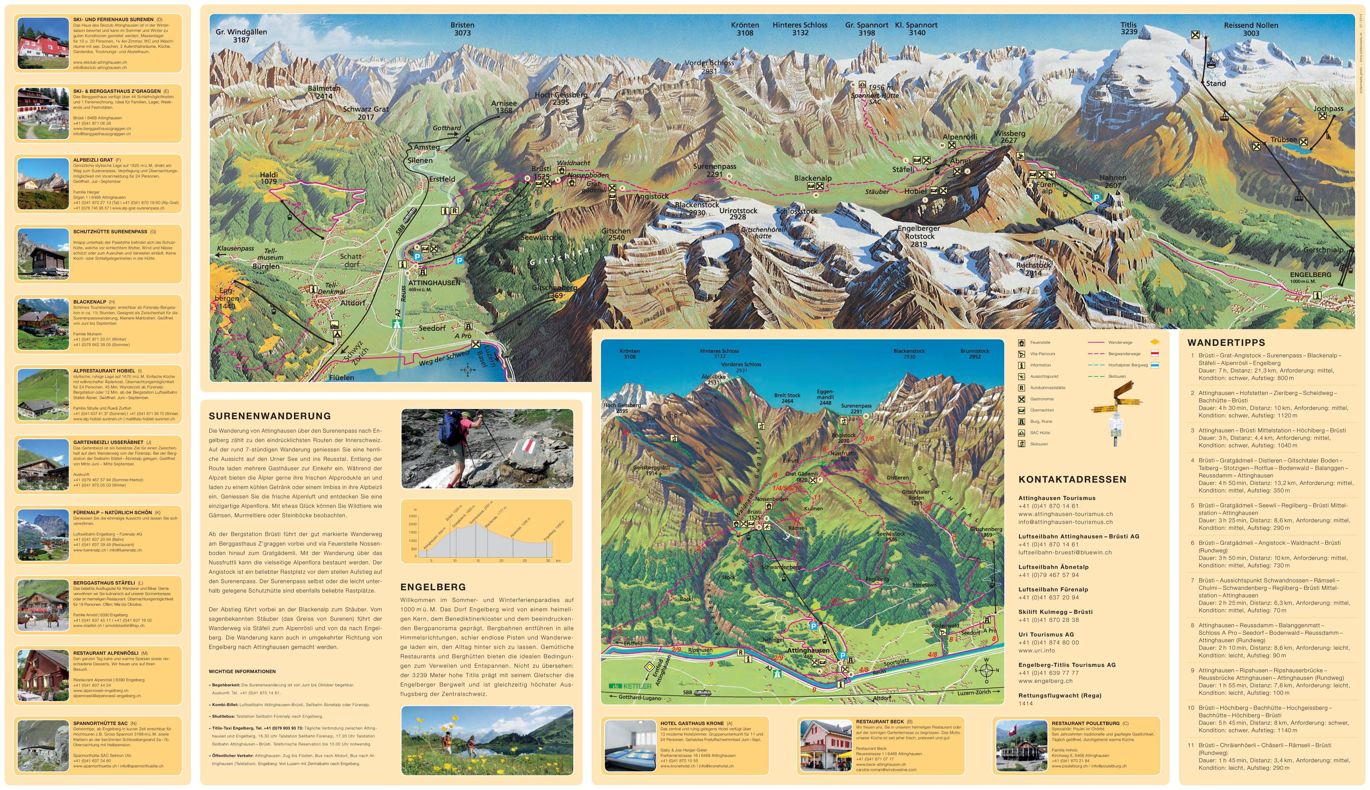 Engelberg trail map