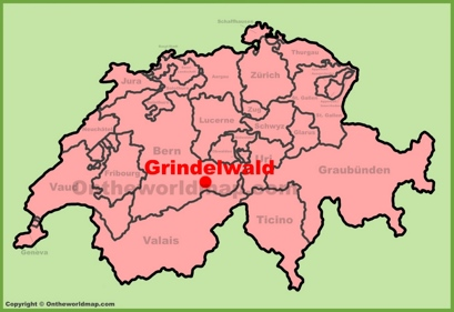 Grindelwald Location Map