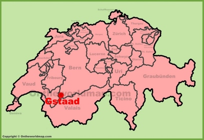 Gstaad Maps Switzerland Maps of Gstaad