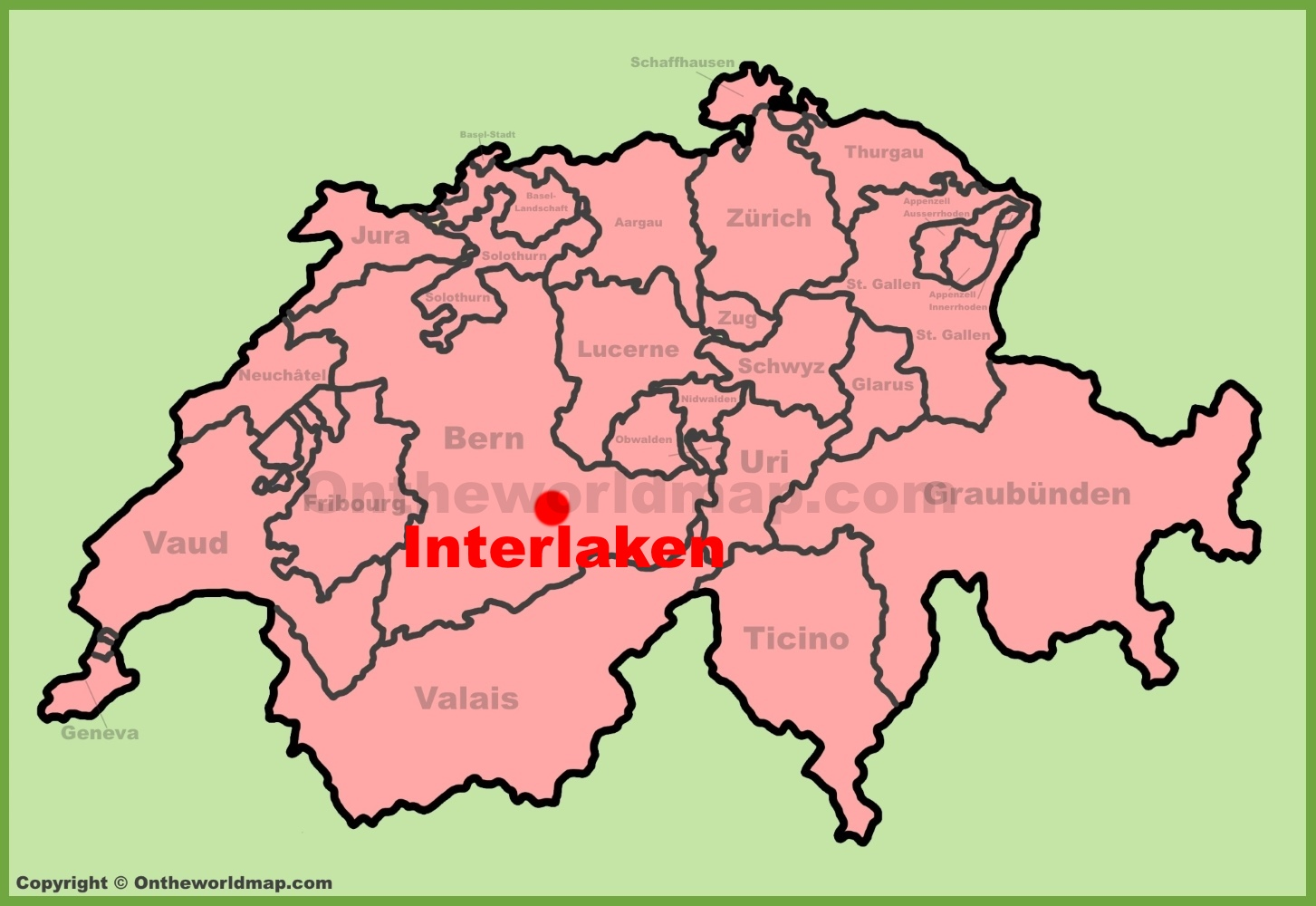 Interlaken Maps Switzerland Maps of Interlaken