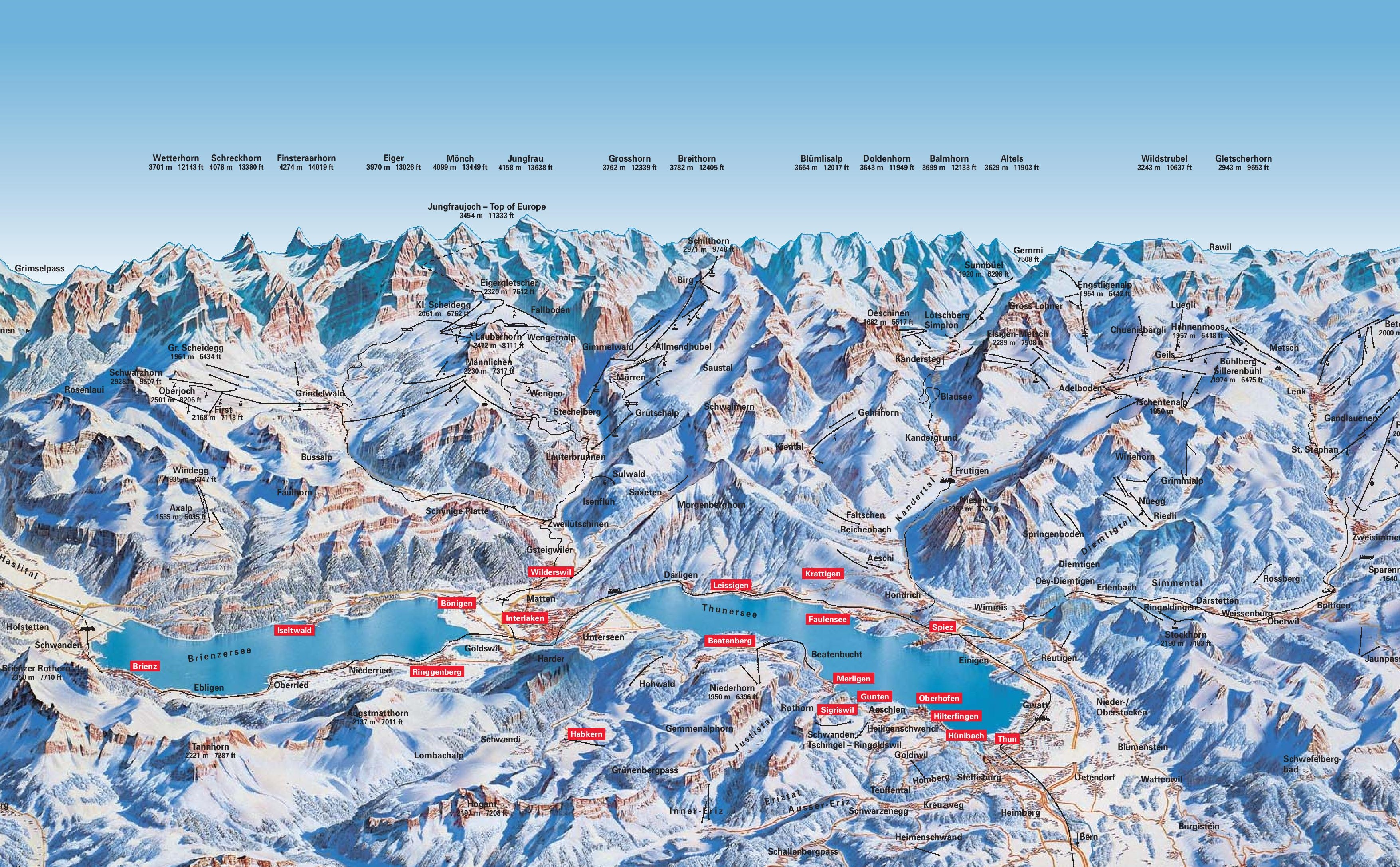Interlaken ski map