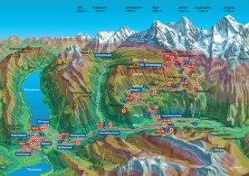 Jungfrau hiking map