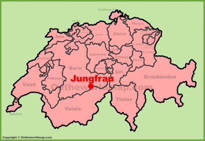 Jungfrau Location Map