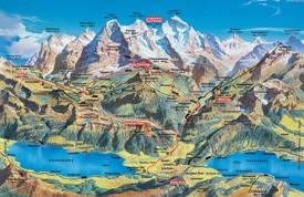 Jungfrau summer map