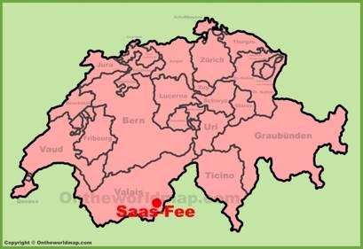 Saas-Fee Location Map