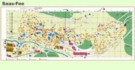 Saas-Fee village map