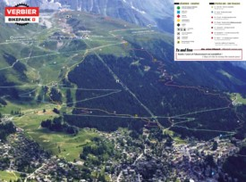 Verbier bike map