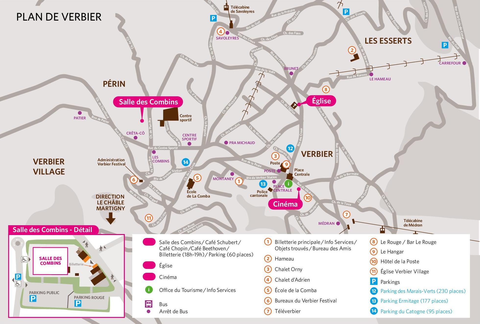 Verbier town map