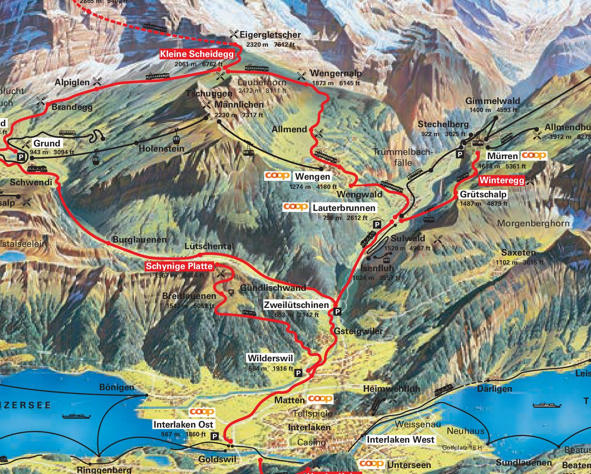 Wengen Maps Switzerland Maps of Wengen