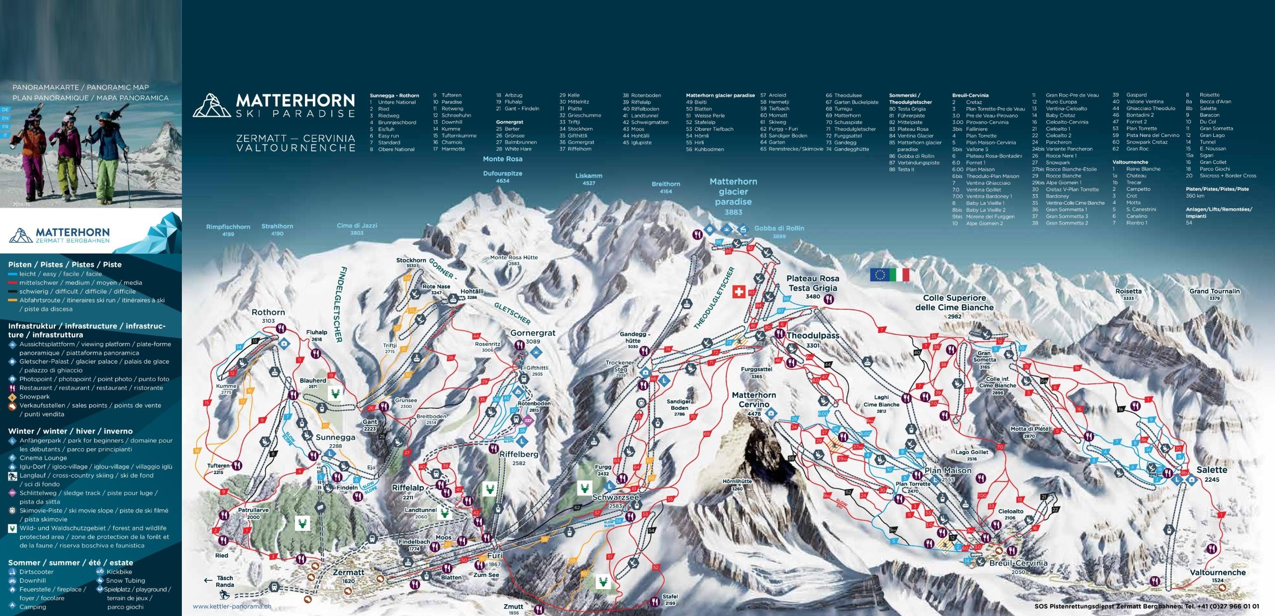 Matterhorn Ski Map Matterhorn piste map