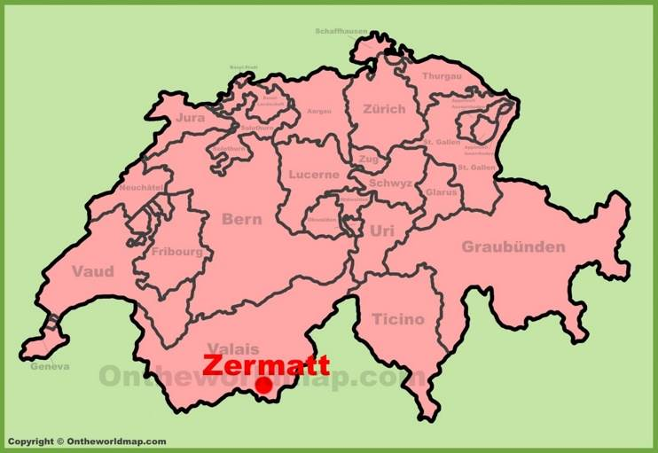 Zermatt Location Map