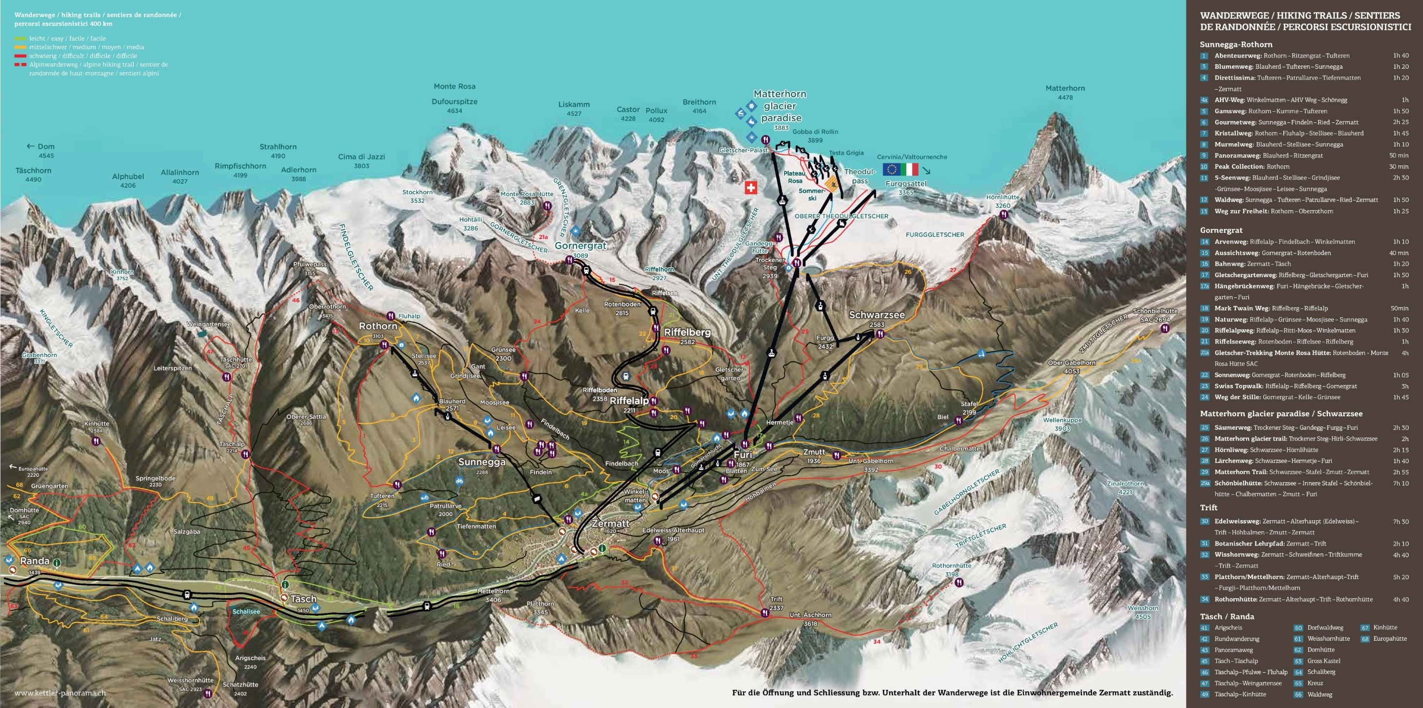 Zermatt summer map