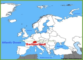 Switzerland location on the Europe map