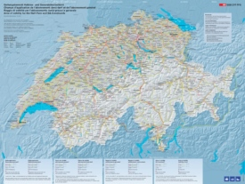 Switzerland railway map
