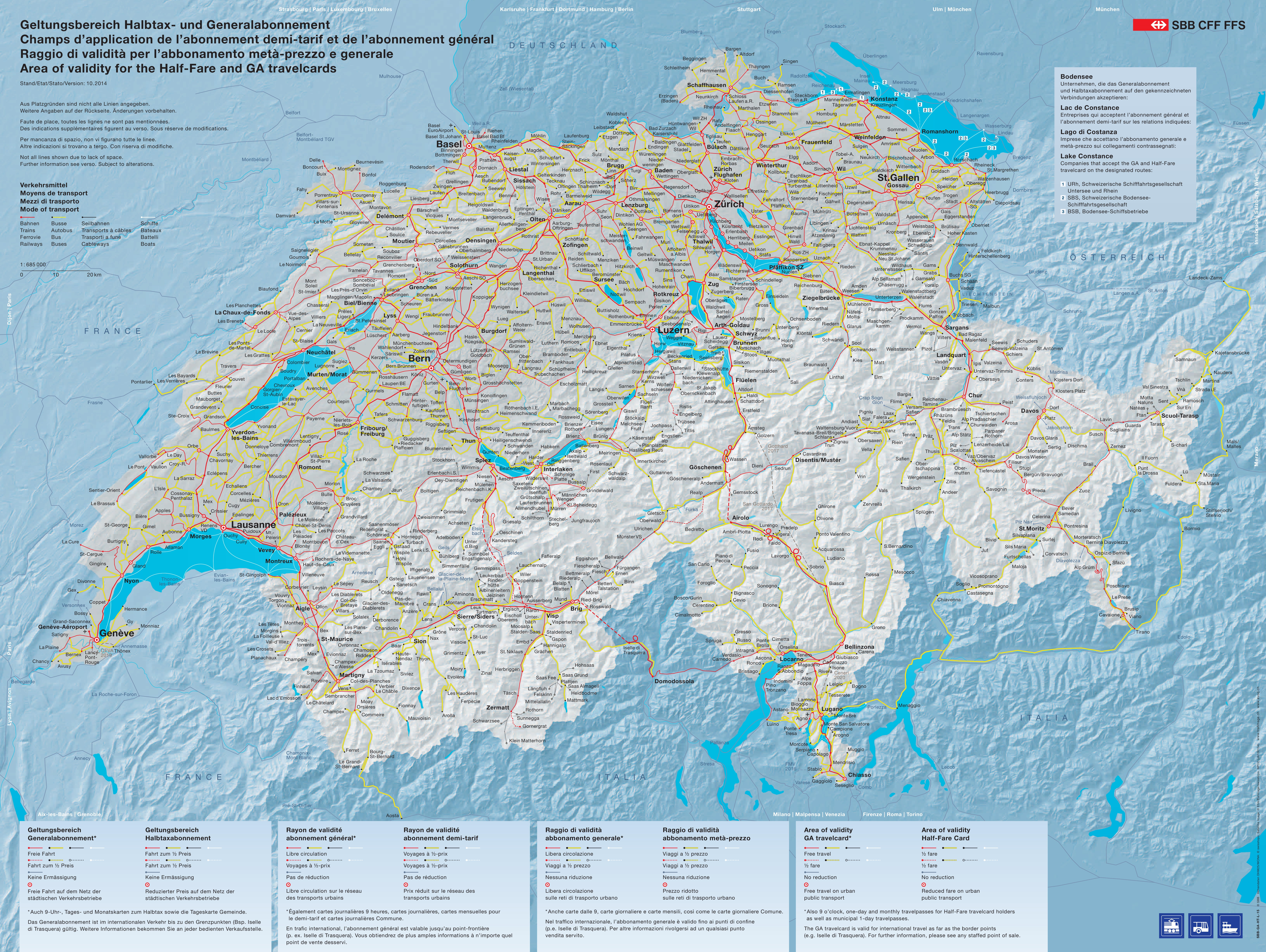 Switzerland maps maps of switzerland switzerland railway map gumiabroncs Gallery