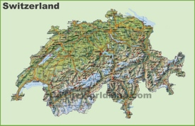 Switzerland road map
