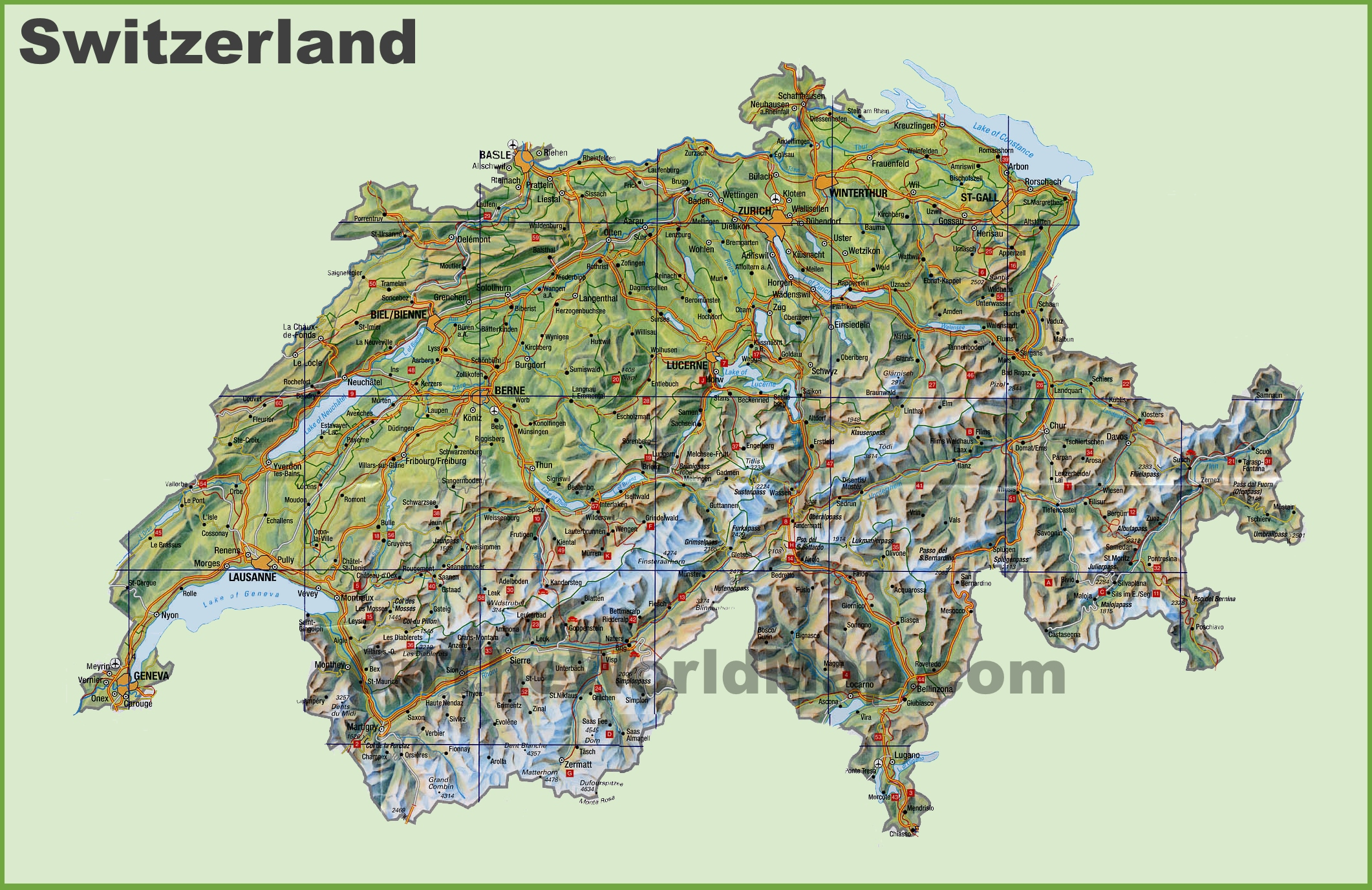Switzerland Maps Maps of Switzerland