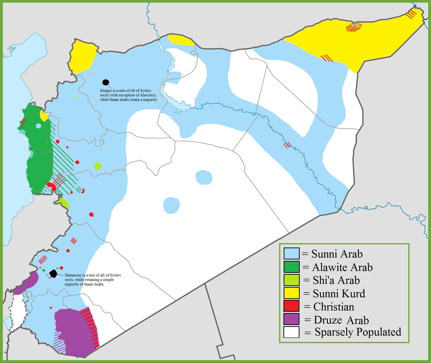 Syria ethnoreligious map