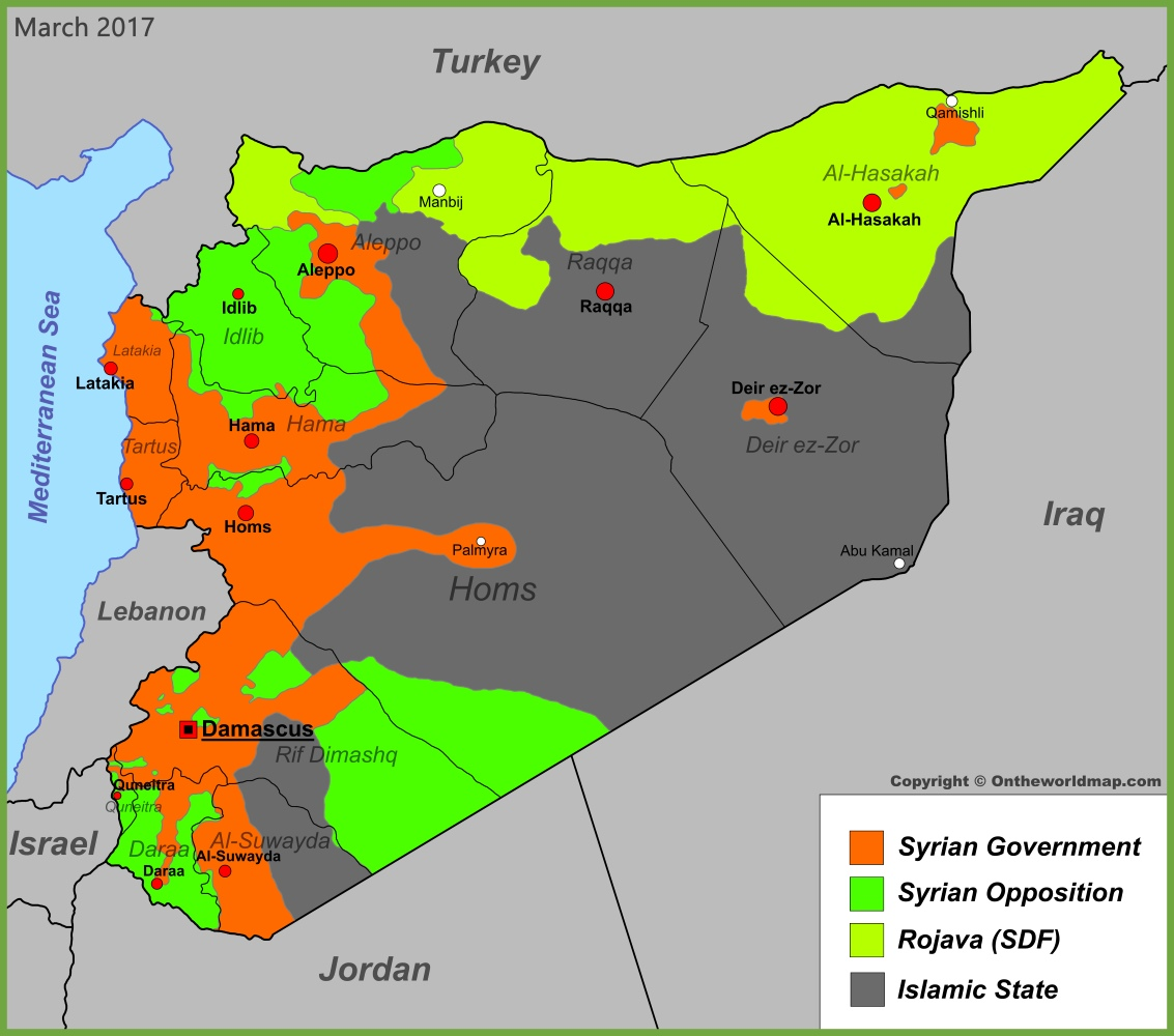 Syria war map (March 2017)