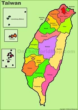 Taiwan county map