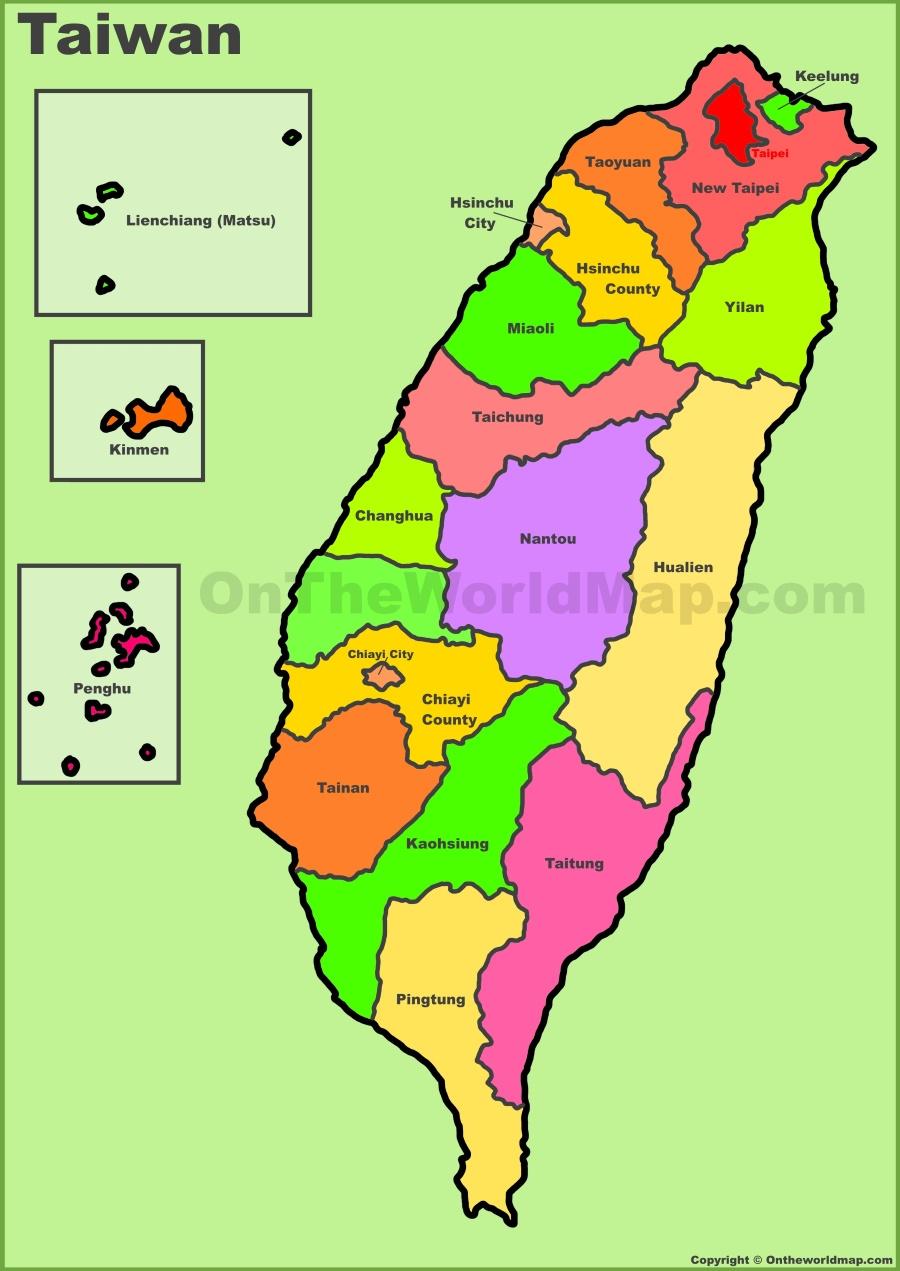 Taiwan Maps – Taiwan Map For Tourist